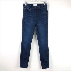 "Madewell 10"" High Riser Skinny Jeans 26"